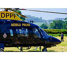 police helicopter Photographic Print