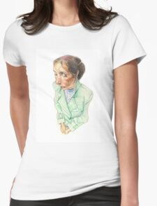 Woman on the Subway Womens Fitted T-Shirt