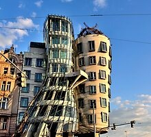 Dancing House Across The Street by Andrew Cryer