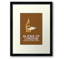 Minimalist 'Aliens of London' Poster Framed Print