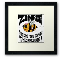 Zombee - Black Text Framed Print