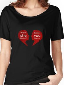 John and Mary - Sherlock Women's Relaxed Fit T-Shirt