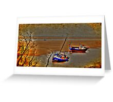 Boats on the Wirral Greeting Card