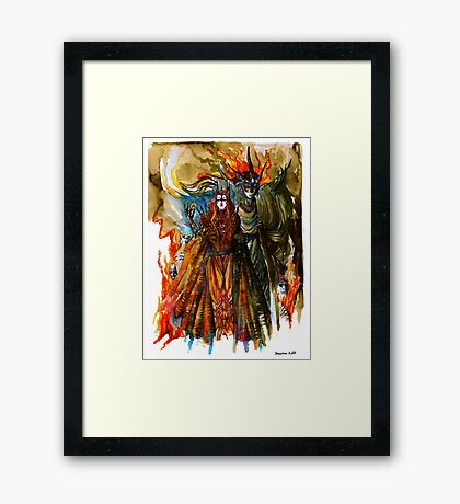 Annatar & Morgoth Framed Print