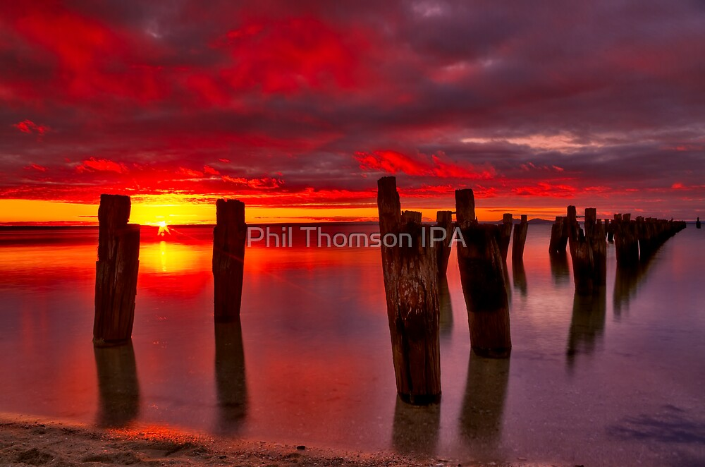 """""""A Winter's Sundown At The Springs"""" by Phil Thomson IPA"""