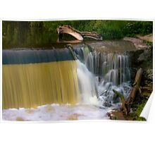 Grafton Dam and Waterfall Poster