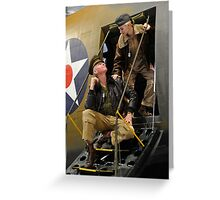 WW2 PILOT Greeting Card
