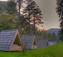Camping at Lake Bled, Slovenia by jcjc22