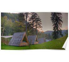 Camping at Lake Bled, Slovenia Poster