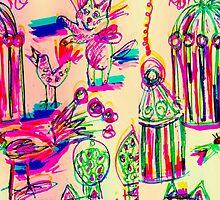 Pop Art Birds Cats by Kater