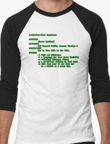 man happiness (black outline) Men's Baseball ¾ T-Shirt