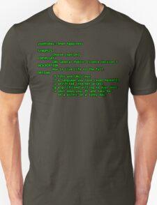 man happiness (black outline) Unisex T-Shirt