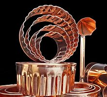 Crinkley Copper Cookie Cutters by Yampimon