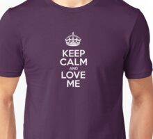Keep Calm and Love Me - Pink Leather Unisex T-Shirt