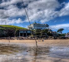 Fishing off the beach, Burgh Island, Bigbury on Sea by jcjc22