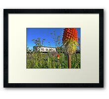 poker hut Framed Print