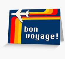 bon voyage retro Greeting Card