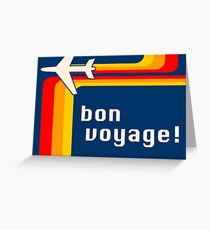 bon voyage retro Greeting Card