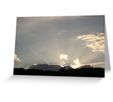 Sky over St Gervais Greeting Card