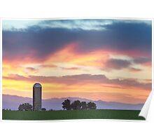 Colorado Farmers Sunset Poster