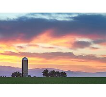 Colorado Farmers Sunset Photographic Print