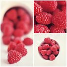 Raspberry Collage by Tracy Jones