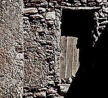 WINTER SUN ACOMA PUEBLO DOORWAY by Thomas Barker-Detwiler