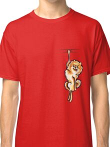 Clingy Orange Pomeranian Classic T-Shirt