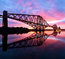 Forth Rail Bridge at Sunrise by PhilipCormack