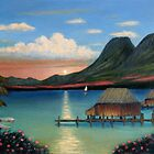 Tahitian Sunset by Gordon  Beck