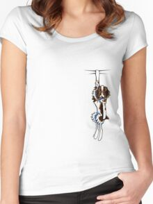 Clingy Springer Spaniel Women's Fitted Scoop T-Shirt