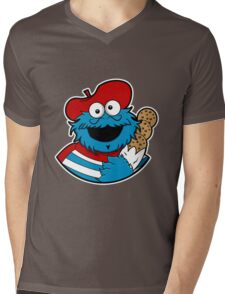 Le Cookie Monsieur Mens V-Neck T-Shirt