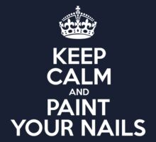 Keep Calm and Paint Your Nails - Pink Leather Kids Tee