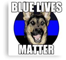 Blue Lives Matter  2 Canvas Print