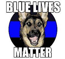 Blue Lives Matter  2 Photographic Print