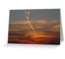 Sunset over the Cowal Alps Greeting Card