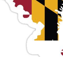 Maryland Flag | State Line | SteezeFSC Sticker