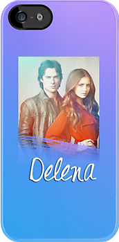 Damon & Elena Iphone case by Belle333Black