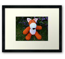 Hand knitted little fox Framed Print