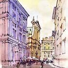 Angolo di Piazza De Ferrari a Genova by Luca Massone  disegni