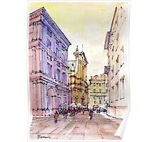 Angolo di Piazza De Ferrari a Genova Poster