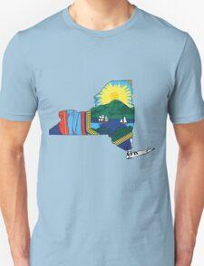 New York Flag [Blk] | State Line | SteezeFSC T-Shirt