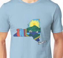 New York Flag [Blk] | State Line | SteezeFSC Unisex T-Shirt