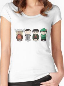 The Big Bang Theory Halloween Group Women's Fitted Scoop T-Shirt