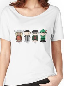 The Big Bang Theory Halloween Group Women's Relaxed Fit T-Shirt