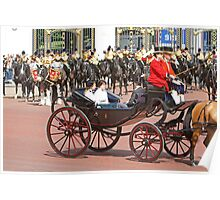 Peincess'Beatrice, Eugenie &  Prince Andrew at Trooping the Colour Poster