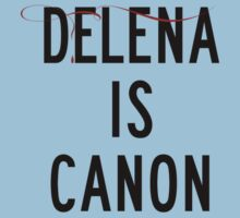 Delena is canon (black) Kids Tee