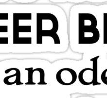 Beer Belly Sticker