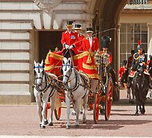 The Queen  leaving for Trooping The Colour by Keith Larby
