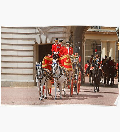 The Queen  leaving for Trooping The Colour Poster